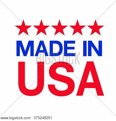 09-made In Usa Sign Vector
