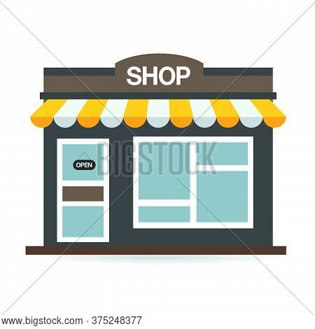 01-store Shop Or Market, Vector  Illustration Background