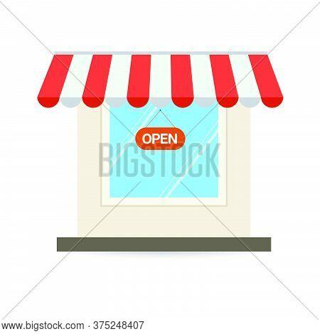 06-store Shop Or Market, Vector  Illustration Background