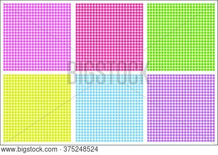 Vector Gingham Pattern In Red Background Set Texture,design