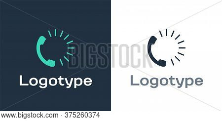 Logotype Food Ordering Icon Isolated On White Background. Order By Mobile Phone. Restaurant Food Del