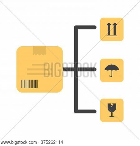 Warehouse Management System Icon. Inventory Management. Supply Chain Concept. Flat Icon Design.