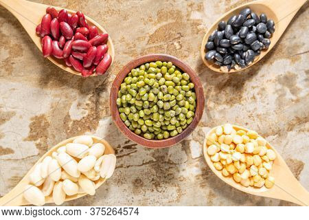 Image Top View Of Mixed Beans