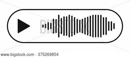Voice Message Icon. Vector Isolated Voice Chat Symbol.