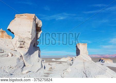 Unusual Campo de Piedra Pómez, northern Argentina desert limestone rock formations
