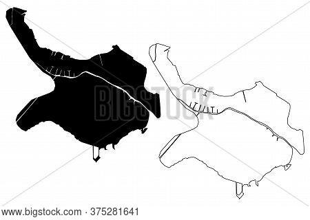 Belize City (belize) Map Vector Illustration, Scribble Sketch City Of Belize Map