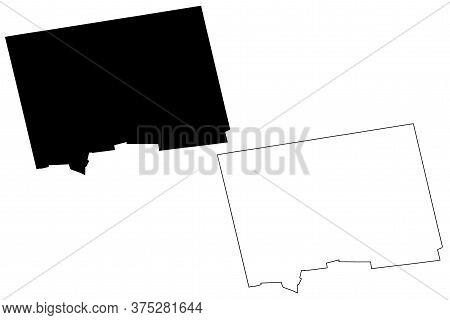 Hamilton City (united Kingdom, Bermuda Island) Map Vector Illustration, Scribble Sketch City Of Hami