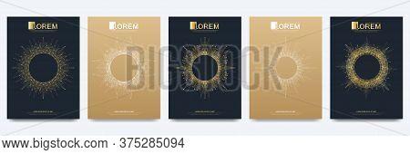 Modern Golden Vector Template For Brochure, Leaflet, Flyer, Advert, Cover, Catalog, Magazine Or Annu