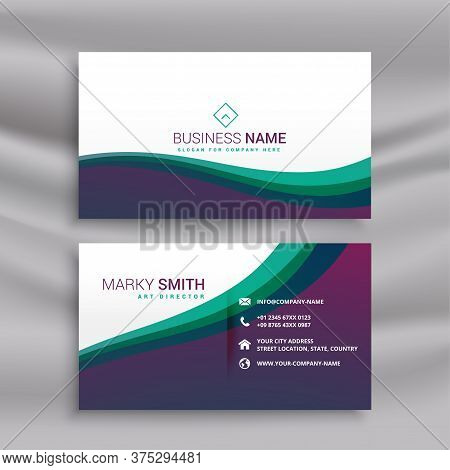 Stylish Modern Wavy Business Card Design