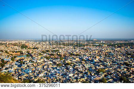 Jodhpur City  Aerial View From Top Of Mehrangarh Or Mehran Fort