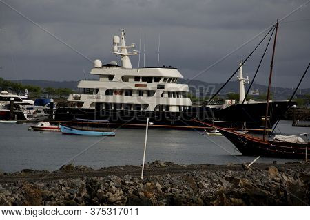 Salvador, Bahia / Brazil - May 11, 2014: Big Aron Yacht Moored At Bahia Marina In Salvador. The Dani