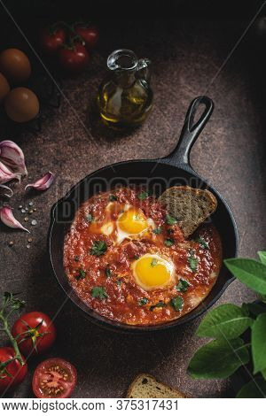 Shakshuka, Middle Eastern Fried Eggs With Tomato Sauce