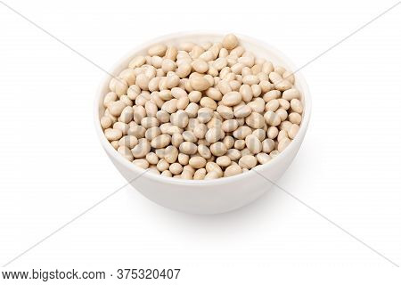 Bowl With Beans Isolated On White Background