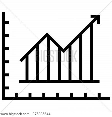 Trend Icon. Graph, Chart Icon. Up Trend, Grow, Increase Signs. Stock Market Growth Icon. Business Co
