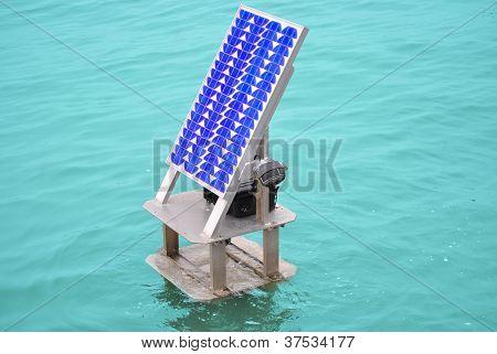Solar Panel In The River