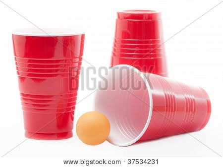 Ping Pong Ball and Party Cups