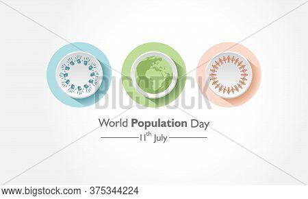 Illustration Of World Population Day Observed On 11th July