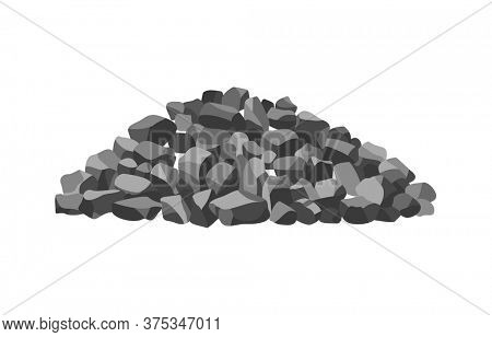 Heap building material. Heap of gravel. illustrations can be used for construction sites, works and industry gravel