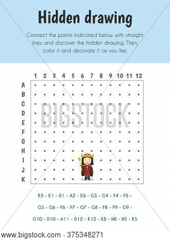 Hidden Drawing Educational Sheet. Primary Module For Spacial Understanding. 5-6 Years Old. Education