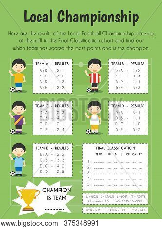 Local Championship Educational Sheet. Primary Module For Numerical Ability. 5-6 Years Old. Education