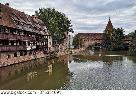 Nuremberg, Germany - June 4 2020: Famous Historic Old Town Of Nuremberg In Franconia, Germany Landma