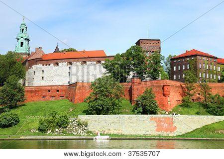 Wawel  Royal castle in Krakow (Poland)
