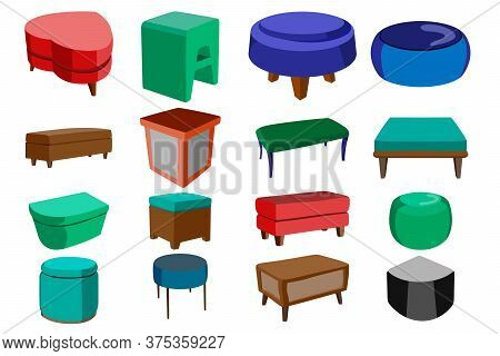 A Large Designer's Set Of Sixteen Furniture Elements In A Design Of Different Shapes And From Differ