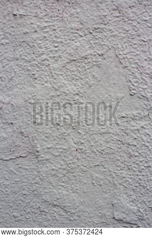 White Plastered Concrete Wall Texture. Whitewash Concrete Wall Seamless Surface. Abstract White Wash