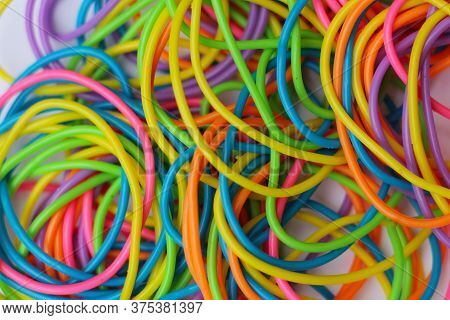 Pile Of 1980s Fashion Bracelets Close Up