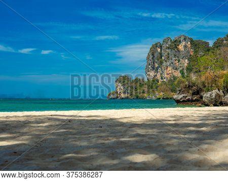 Railay beach Rai Leh between the city of Krabi and Ao Nang in Thailand.