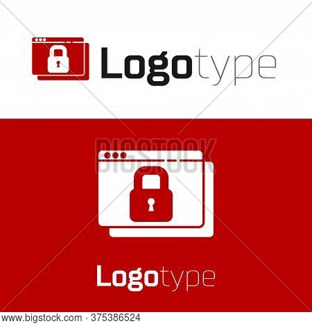 Red Secure Your Site With Https, Ssl Icon Isolated On White Background. Internet Communication Proto