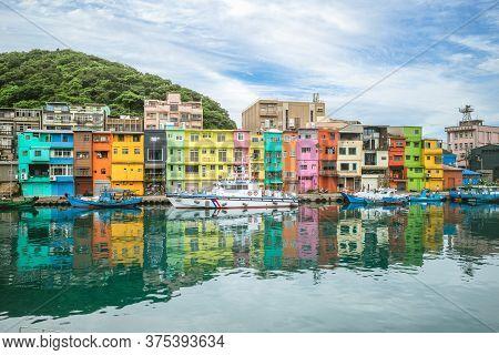 Colorful Zhengbin Fishing Port At Keelung, Taiwan
