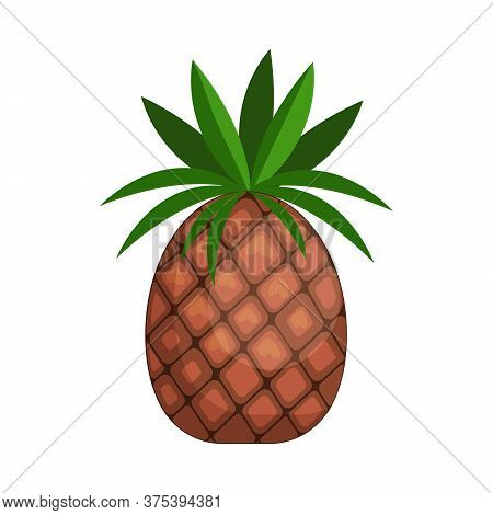 Pineapple. Fruit, Ananas, Exotic Food. Illustration Can Be Used For Topics Like Tropical Country, Ga