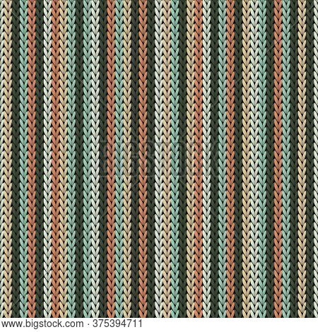 Close Up Vertical Stripes Knitted Texture Geometric Seamless Pattern. Scarf Knit Tricot  Fabric Prin