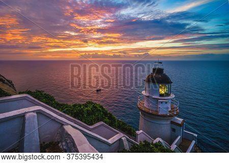 The Dongyong Lighthouse At Matsu, Taiwan At Daybreak