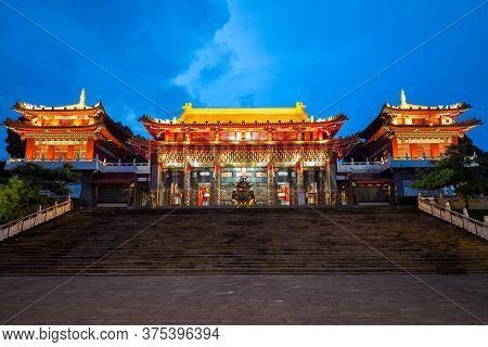 Night Scene Of Wen Wu Temple In Nantou