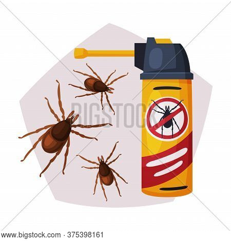 Sprayer Bottle Of Mite Or Tick Insecticide, Pest Control Service, Detecting And Exterminating Insect