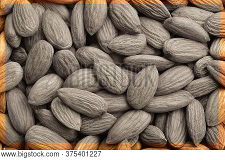 Almonds Image For Textspace, Banner, Copyspace, Black N White