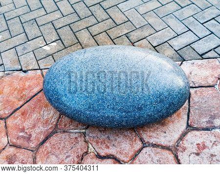 Sochi, Russia, June 20, 2020. A Beautiful Giant Stone Lies On A Path In Sochi Park. Quarantine, Coro