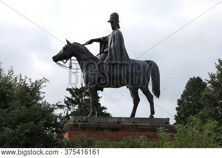 An Equestrian Statue Of The Duke Of Wellington Found In Aldershot, Hampshire, Uk Taken July 17th 201