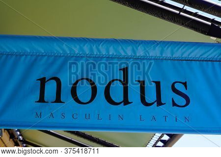 Bordeaux , Aquitaine / France - 07 06 2020 : Nodus Logo Text Sign For Store Of French Luxury Fashion