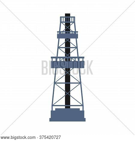 Industrial Derrick Tower - Oil Well Drilling Rig Framework
