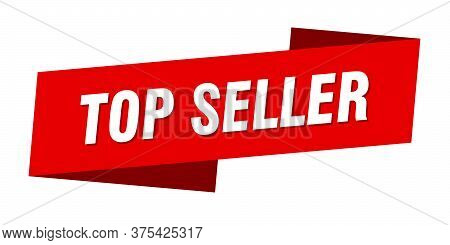 Top Seller Banner Template. Top Seller Ribbon Label Sign