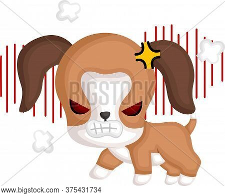A Vector Of A Cute Angry Beagle