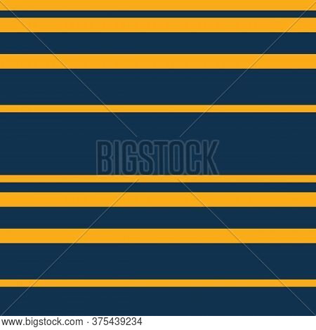 Simple Vector Horizontal Stripes Pattern. Seamless Texture With Thin And Thick Straight Lines. Yello