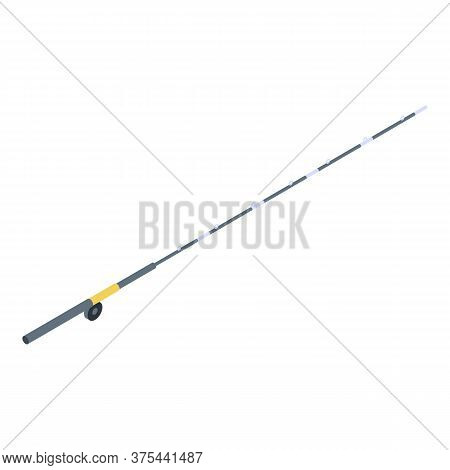 Carbon Fishing Rod Icon. Isometric Of Carbon Fishing Rod Vector Icon For Web Design Isolated On Whit