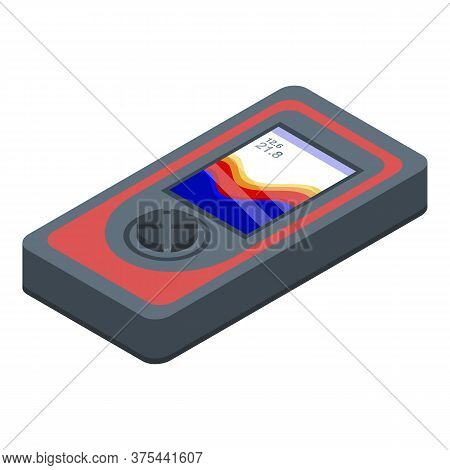 Infrared Echo Sounder Icon. Isometric Of Infrared Echo Sounder Vector Icon For Web Design Isolated O