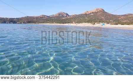 Calm Water In The Ostriconi Beach In Corsica, France