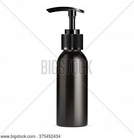 Pump Dispenser Bottle Mockup. Cosmetic Highlight Or Serum Spray Packaging. Liquid Soap Or Shampoo Ti
