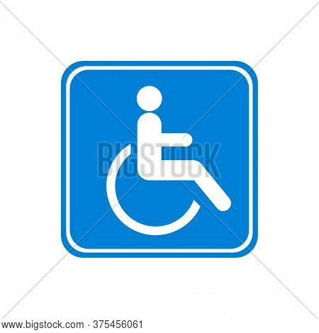 Disabled Icon, Wheelchair, Handicap Symbol Isolated On White Background. Vector Illustration